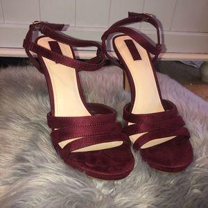 Forever 21 maroon strap heels